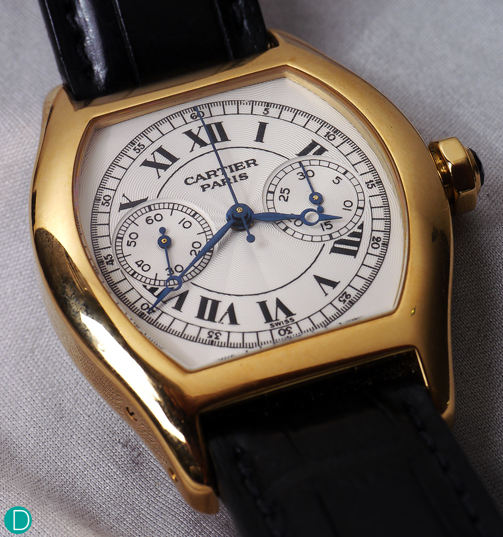 The guilloche dial with Breguet numerals and hands are classically proportioned.