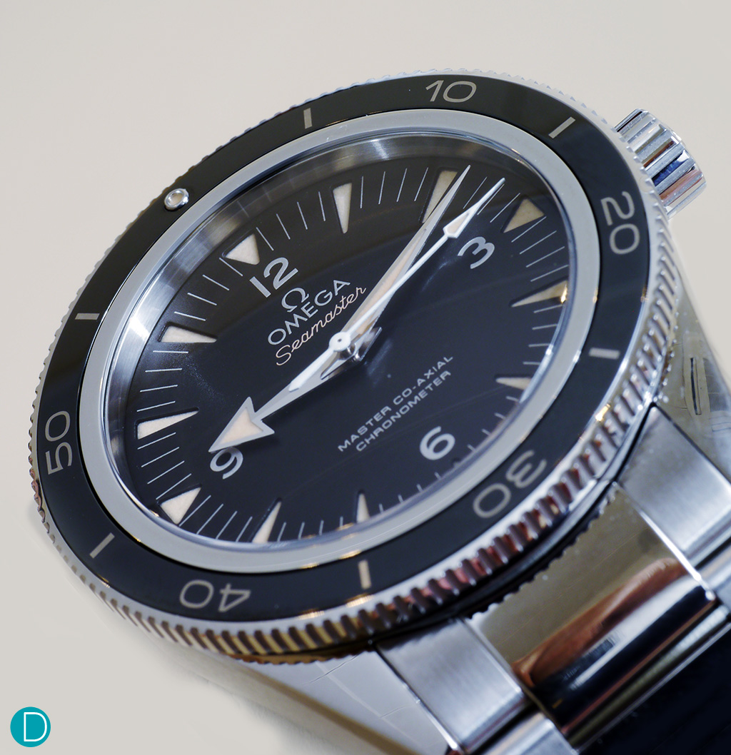 The Omega Seamaster 300, with the Liquidmetal Bezel.