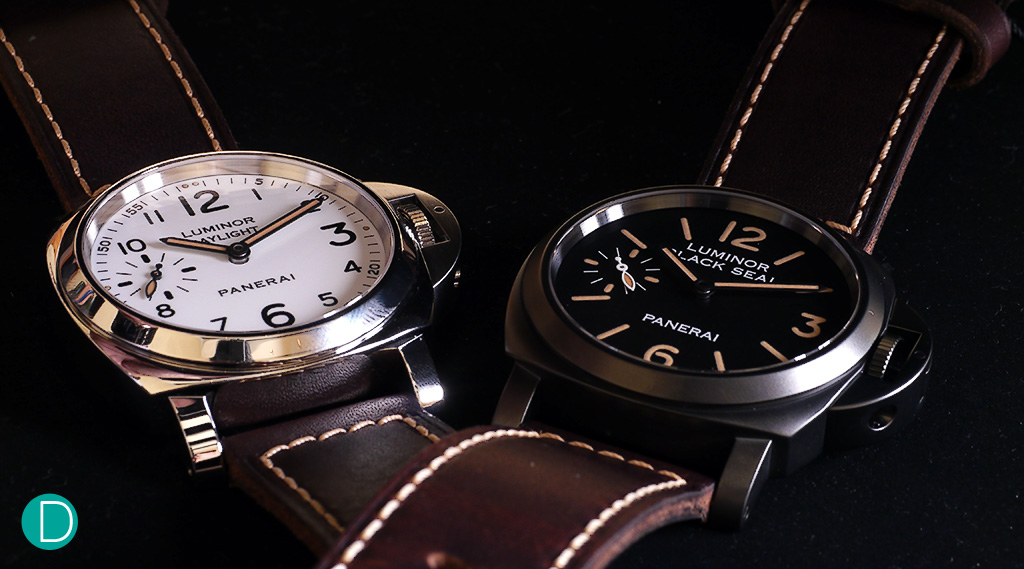"""The Panerai Luminor 8 Days Set, featuring the """"Black Seal"""" edition and the """"Daylight"""" edition."""