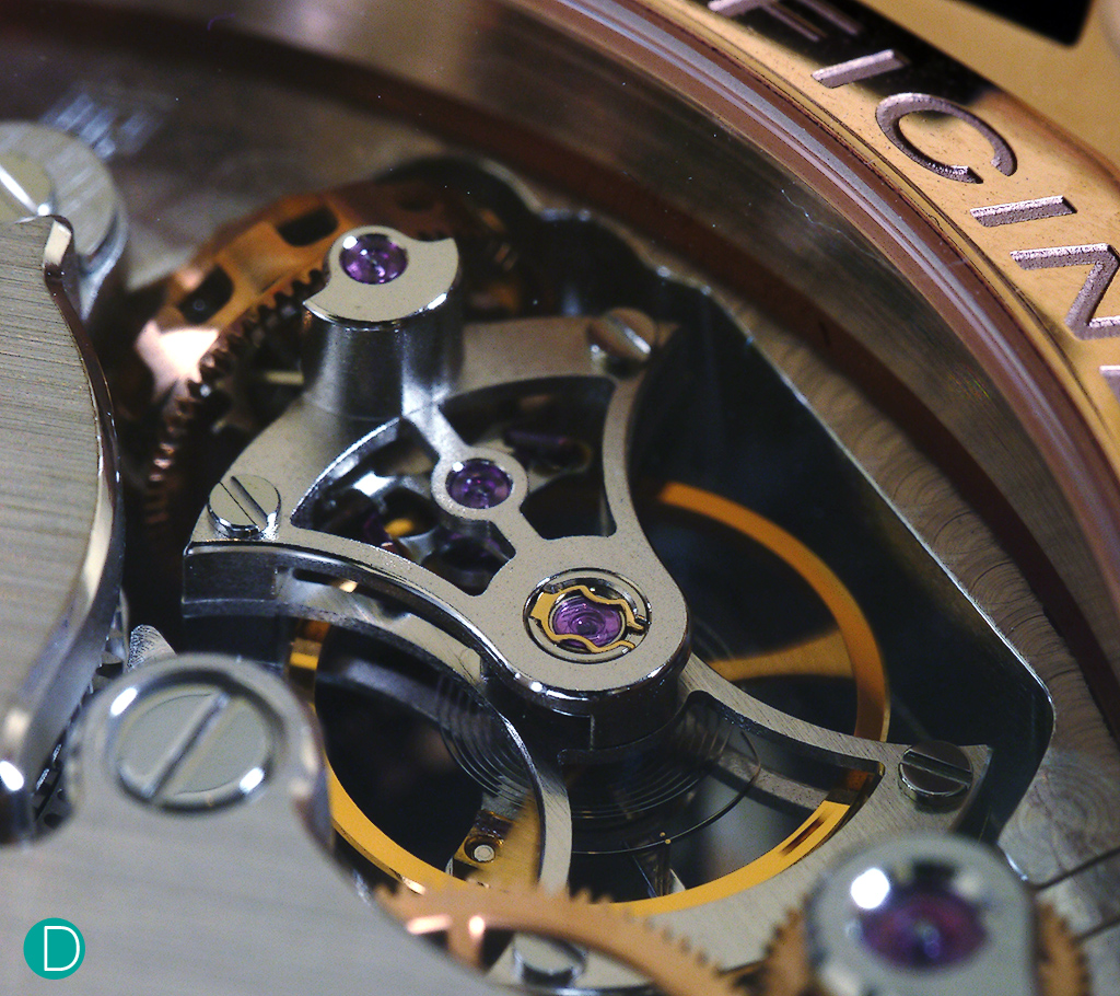 Hidden behind the dial is the tourbillon. Talk about subtlety and restrain.