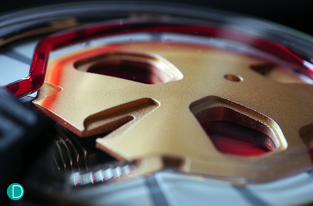 The latest HYT skull, fondly nicknamed 'Iron Man' by collectors for its striking red and gold colours.