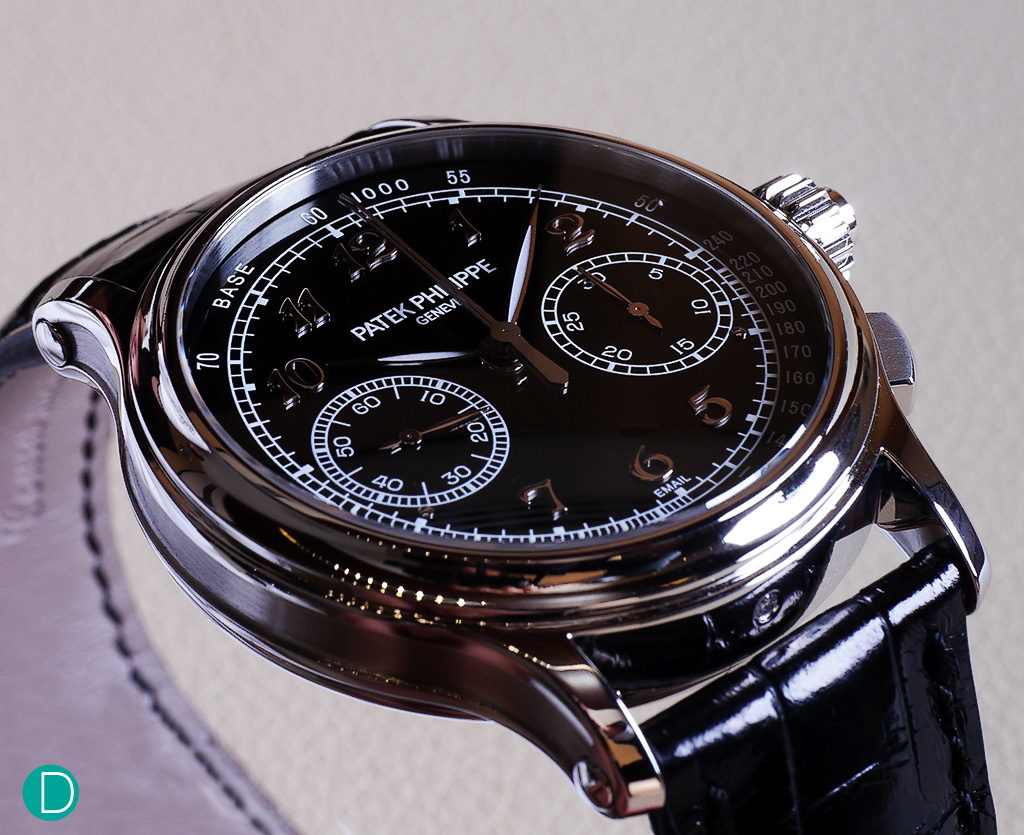 The Patek Philippe 5370 with its well-finished black enamel dial.