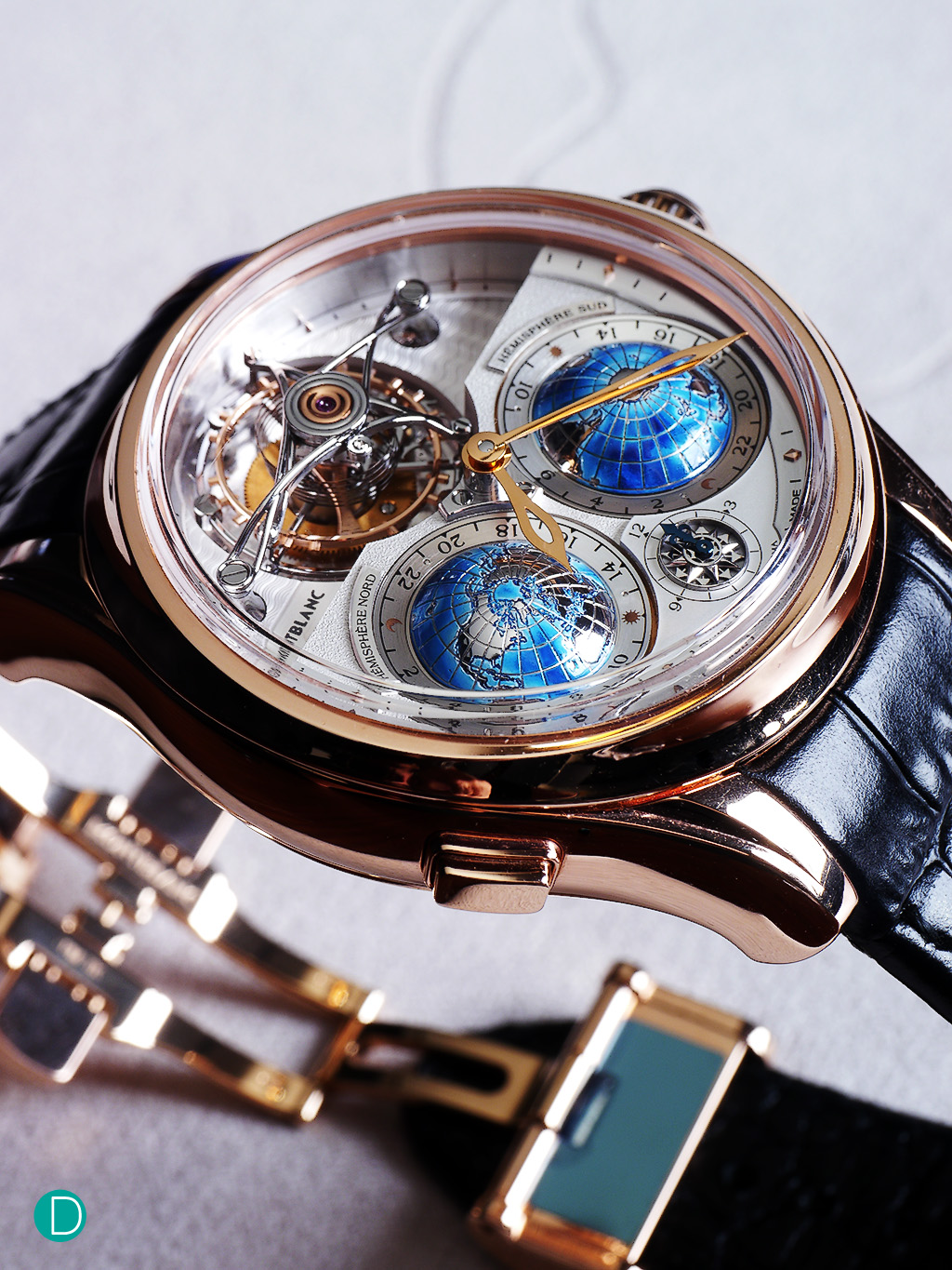 Montblanc Collection Villeret Tourbillon Cylindrique Geosphères Vasco da Gama.
