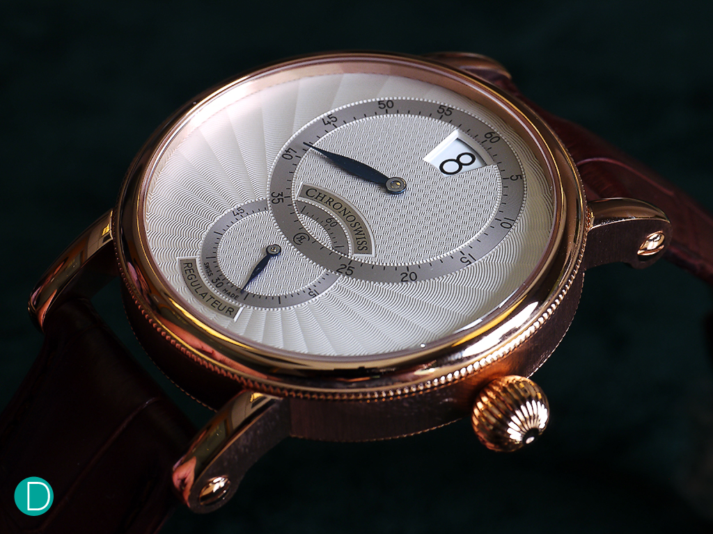 The Régulateur 30's dial is one of the high points for us. Very beautifully guillochéd.