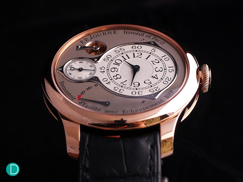 F. P. Journe Chronomètre Optimum. The watch is very refined, exceptionally finished.