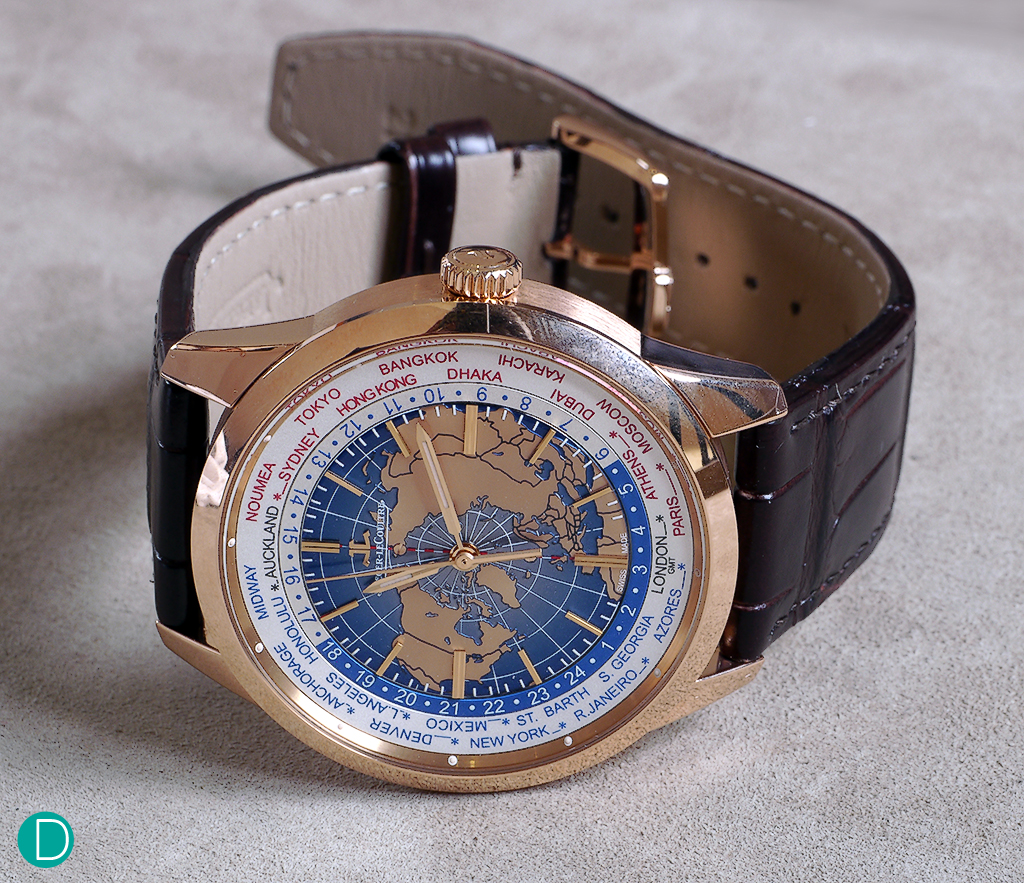 Geophysic Universal Time in pink gold.