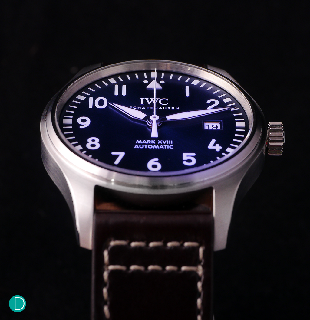 """The IWC Mark 18 """"Le Petit Prince"""" Edition, with a stunning blue dial."""