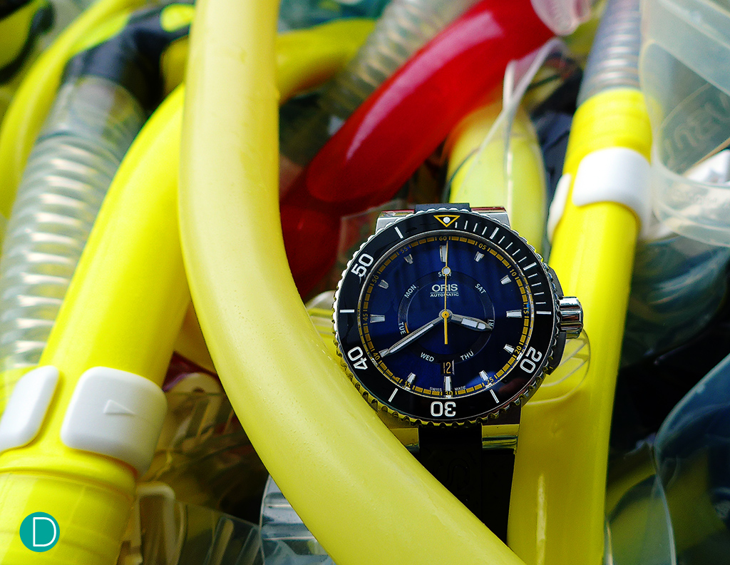 The Oris Great Barrier Reef Limited Edition II in its natural habitat.
