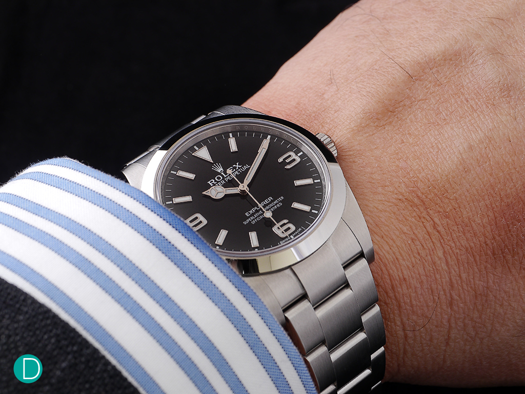 The Rolex New Explorer on the wrist. 39mm never felt so comfortable and a  tool c1a819e08