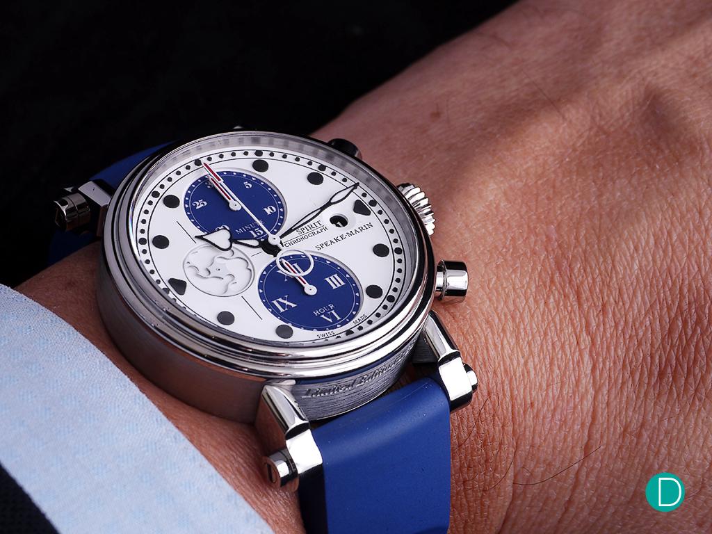 The Blue Spirit Seafire on the wrist.