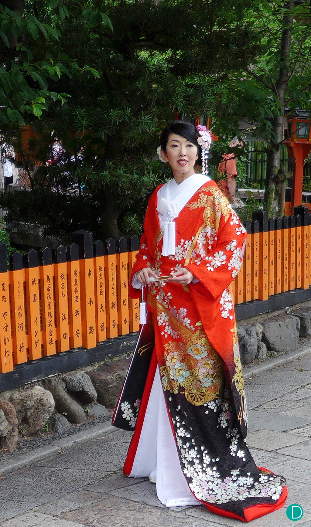 My submission. A lady in her wedding kimono in Gion, Kyoto.