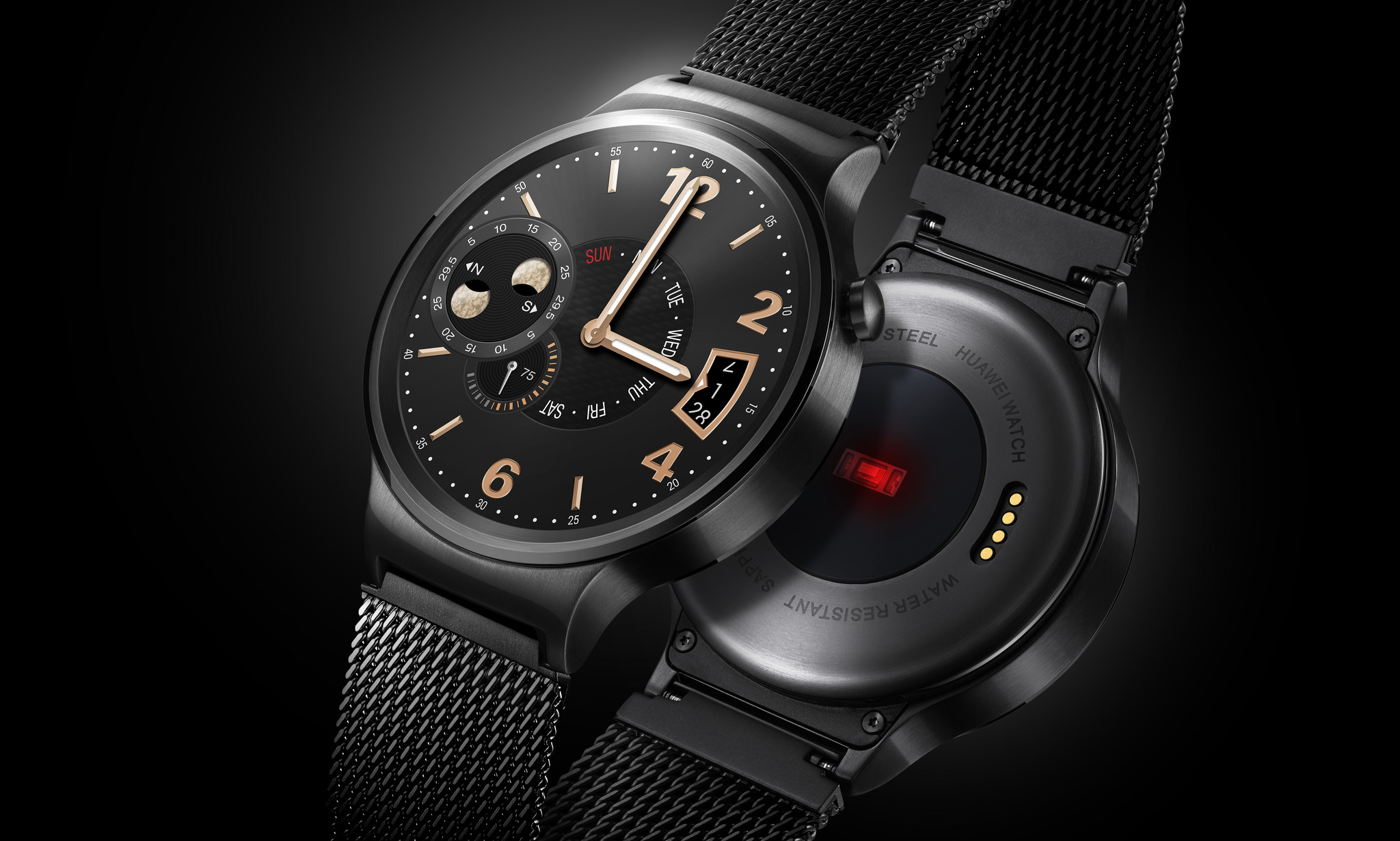 Huawei smartwatch is typical of many 2nd generation smartwatches, taking great effort to include physical elements like crown, sapphire crystal, stainless steel construction and milanese bracelets but again, it misses the point.