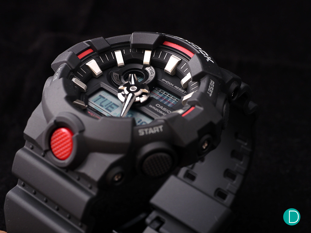 The GA-700 features a muscular design, embodying the spirit of G-SHOCK and sporting a tough look.
