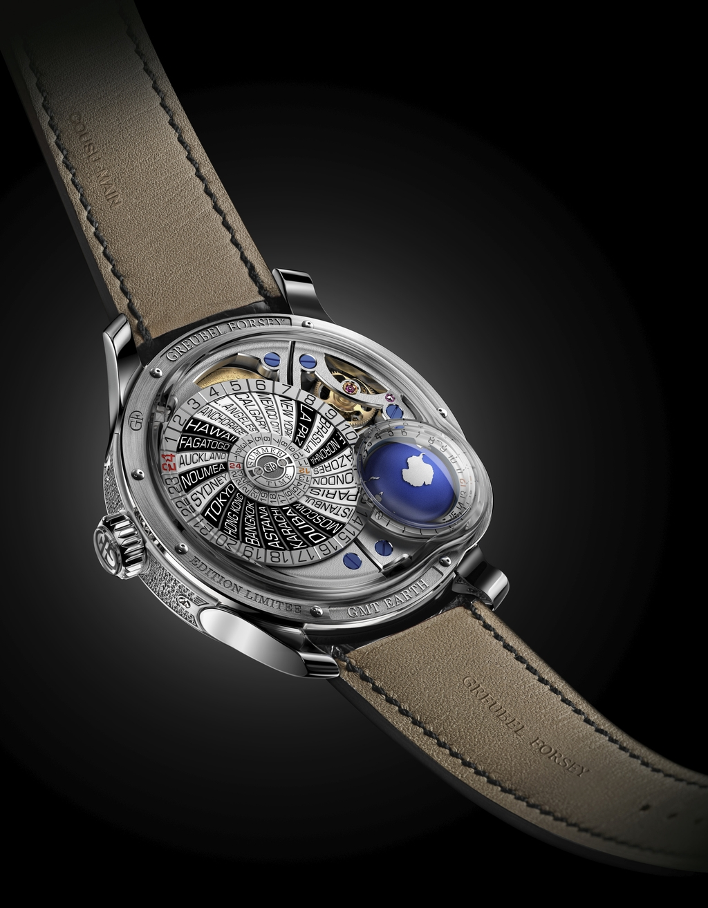 Greubel Forsey Timepieces: GMT Earth movement view